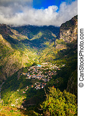 view of the small town Curral das Freiras