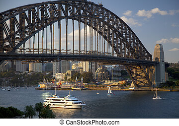 Beautiful view of the Sydney Harbour Bridge