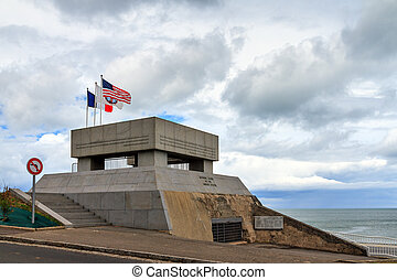 Omaha Beach National Guard Monument - Beautiful view of the...