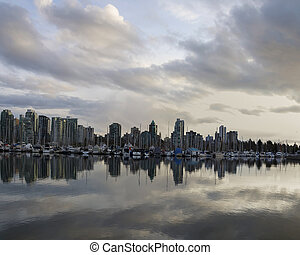 Beautiful view of Vancouver skyline
