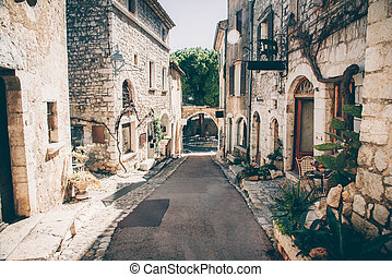 Beautiful view of village in France.