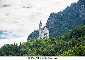 Beautiful view of world-famous Neuschwanstein Castle