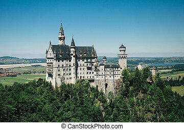 Beautiful view of world-famous Neuschwanstein t Bavaria, Germany