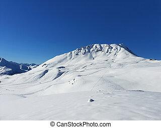 alpine french snowy mountain