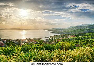 Beautiful view on sea coast in Croatia