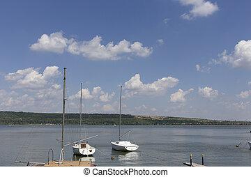 Beautiful view on the lake.