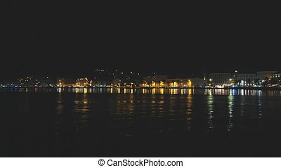 Beautiful view on the old town and Marjan park in Split,...
