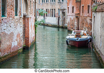 Beautiful view on the Venice city in Italy with canal