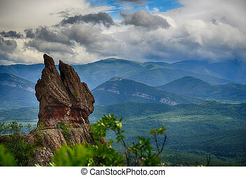 Beautiful view - phenomenon of Belogradchik rocks, Bulgaria.HDR image