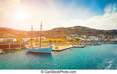 view to Mykonos - Beautiful view to Mykonos enbankment and...