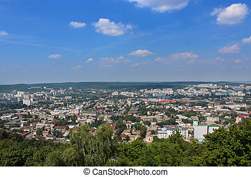 view to the house-tops in Lvov city - beautiful view to the ...
