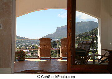 view over Hout Bay