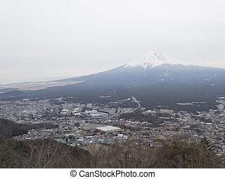 beautiful views of Mount Fuji in the winter