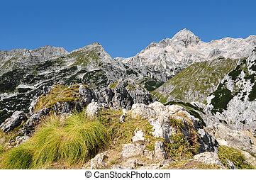 beautiful views of Mount Triglav in the Julian Alps - Slovenia, Europe