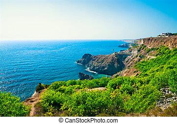 Beautiful views of the coast of the Black Sea