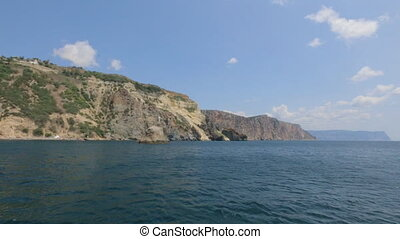 Beautiful views of the Crimean mountains from the sea in...