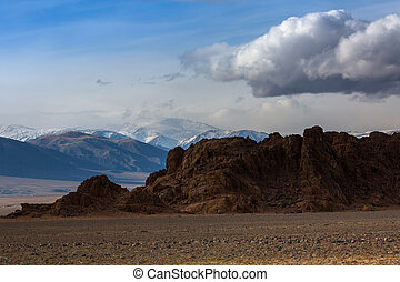 Beautiful views of the mountains of Western Mongolia.