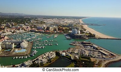 Beautiful Vilamoura with marina and sandy wide beach,...