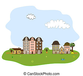 Beautiful village, town or neighbor