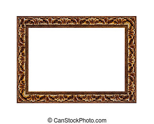 Beautiful vintage photo frame isolated on a white background