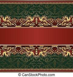 Beautiful vintage seamless pattern