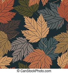 Beautiful vintage tree leaves seamless