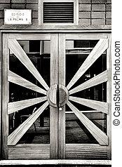 Beautiful vintage wooden door in Benidorm
