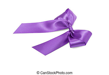 Beautiful violet bow.