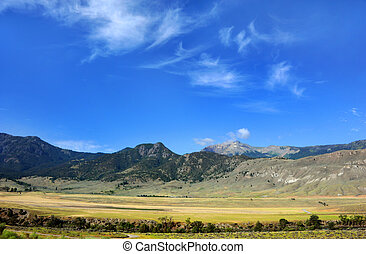Beautiful Vista of Montana - Beautiful mountain vista in ...