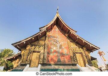 Beautiful Wat Xieng thong temple,Luang Pra bang, Laos.