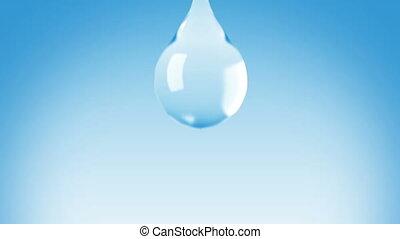 Beautiful Water Drop falling