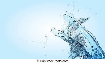 Beautiful Water splashes in slow mo