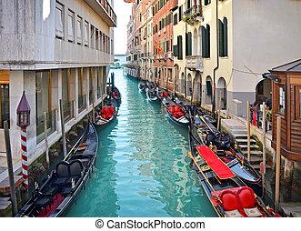 Beautiful water street - Venice, Italy