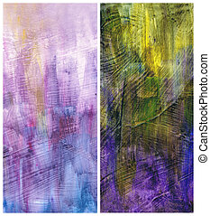 Beautiful watercolor background in soft purple, green and yellow- Great for textures and backgrounds for your projects!