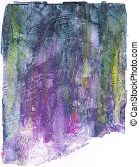 Beautiful watercolor background in soft yellow, purple and green- Great for textures and backgrounds for your projects!
