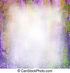 Beautiful watercolor background in soft purple, yellow and green- Great for textures and backgrounds for your projects!