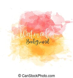 Beautiful watercolor modern banner . Background for design