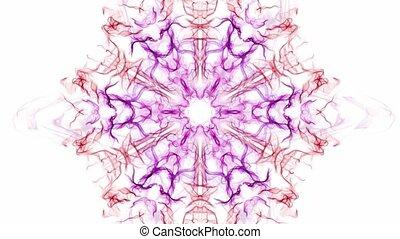 Beautiful watercolor patterns in purple and dark orange...