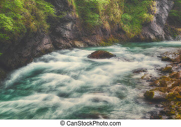 Beautiful waterfall in Austria