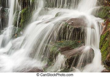 Beautiful waterfall in autumn, long exposure