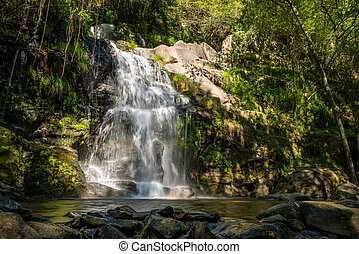 Beautiful waterfall in Cabreia Portugal