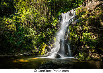 Beautiful waterfall in Cabreia Portugal