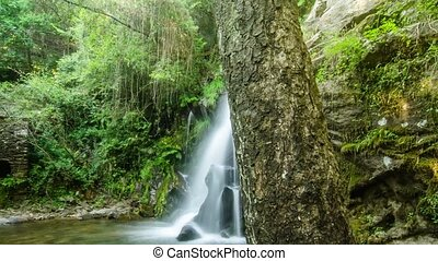 Beautiful waterfall in Cabreia Portugal. Long exposure...