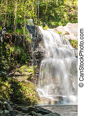Beautiful waterfall in Cabreia, Sever do Vouga, Aveiro, Portugal.
