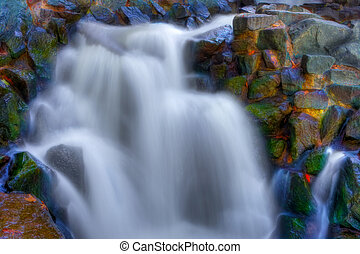 Beautiful waterfall in hdr