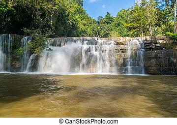 Beautiful waterfall in national park