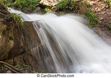 beautiful waterfall in nature