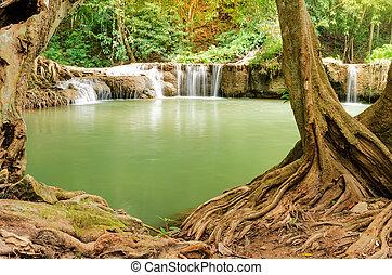 Beautiful waterfall in nature Thailand
