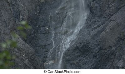 Beautiful Waterfall In Norway - Untouched and flat material,...