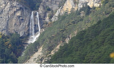 Beautiful waterfall Uchan-Su